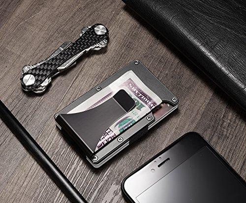 Metal Wallet Minimalist Wallets RFID Blocking Credit card Holders Money Clip